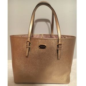 Authentic Michael Kors Gold Leather Tote